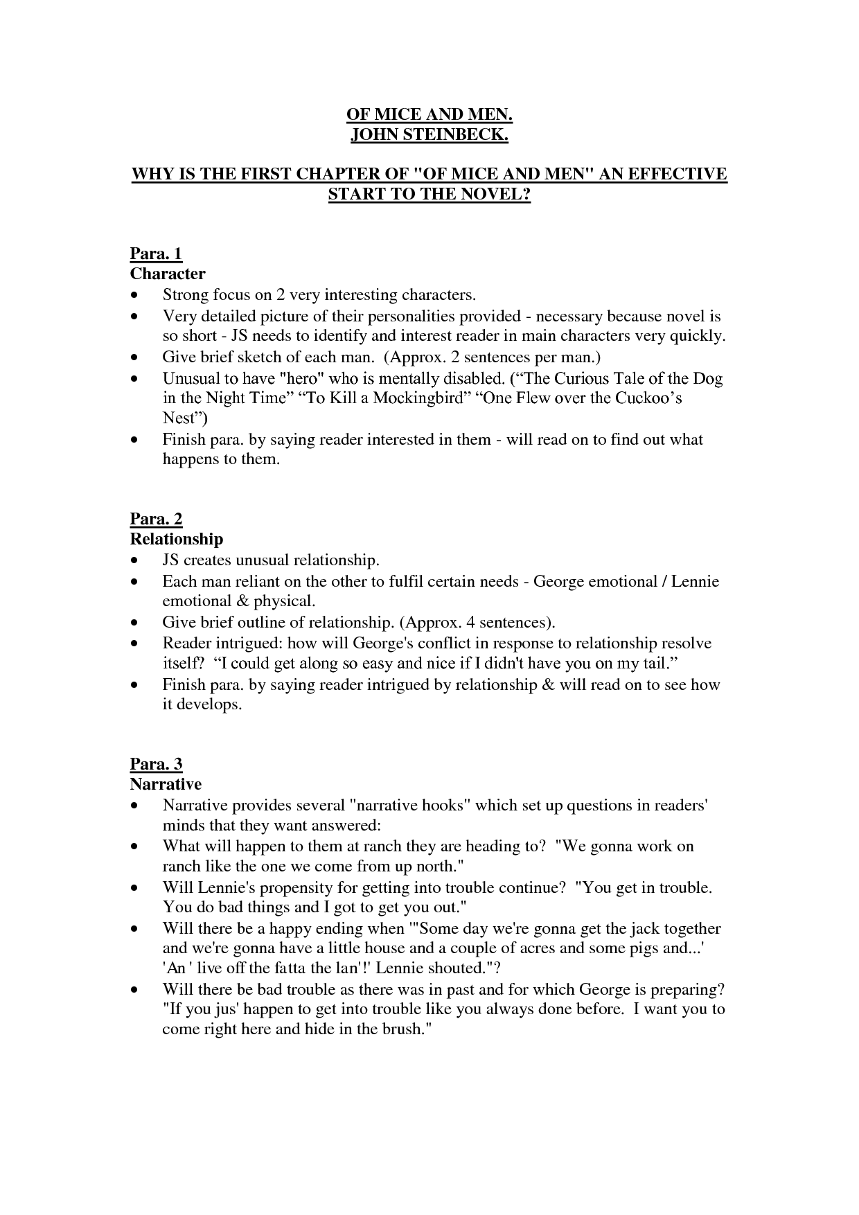 of mice and men essay questions chapter 1
