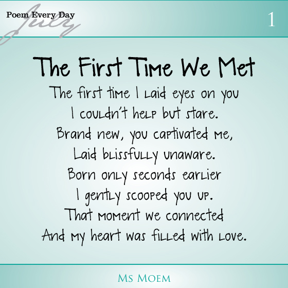 Since the day i met you poems
