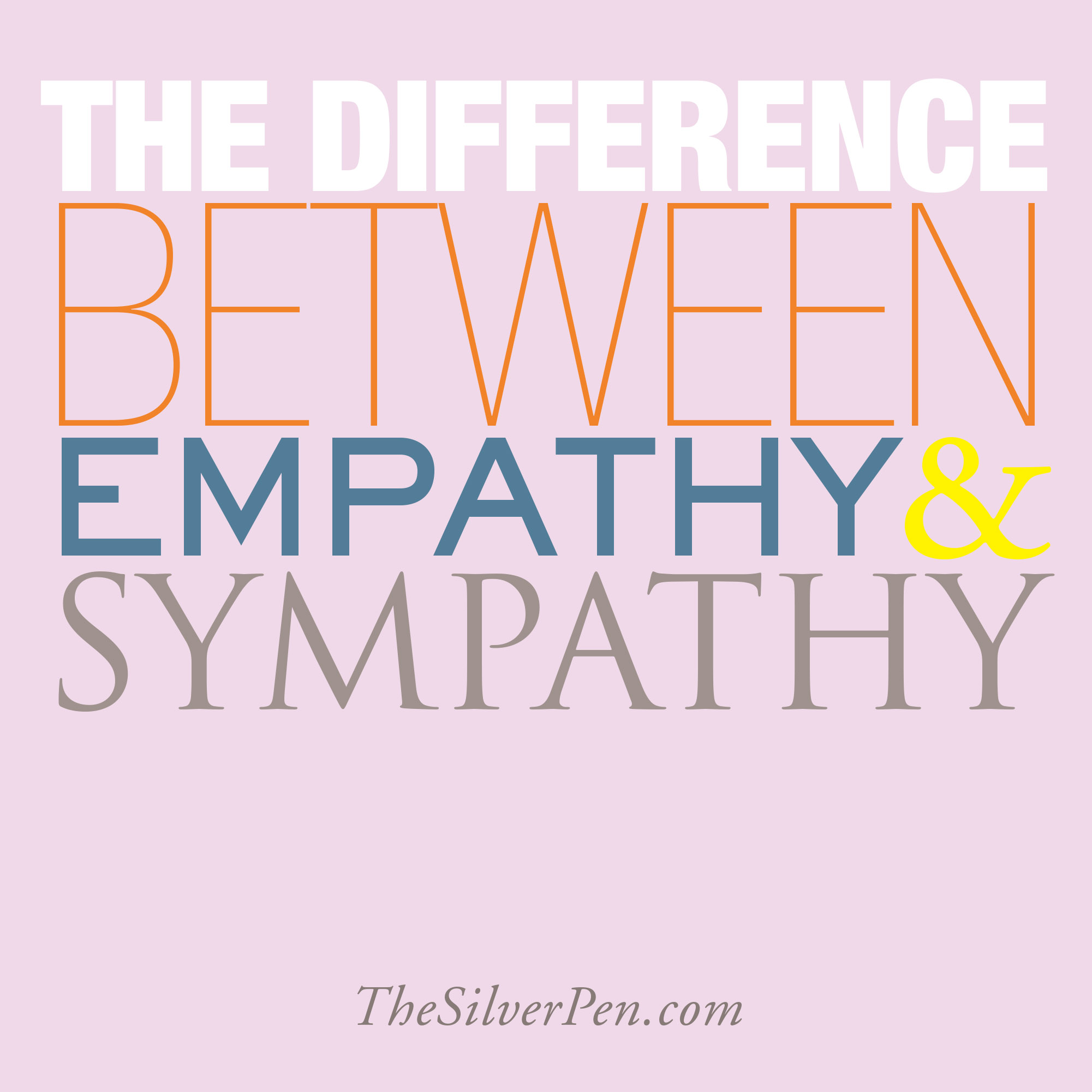 empathy vs sympathy When you understand and feel another's feelings for yourself, you have empathyit's often spoken of as a character attribute that people have to.