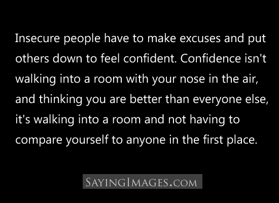 Quotes About Insecure People. QuotesGram