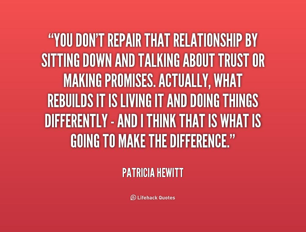 How to rebuild trust in a broken relationship