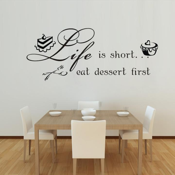 Kitchen Wall Decor Quotes: Kitchen Vinyl Wall Quotes. QuotesGram