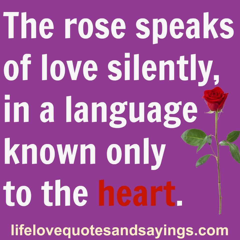 Quotes About The Heart: The Language Of The Heart Quotes. QuotesGram