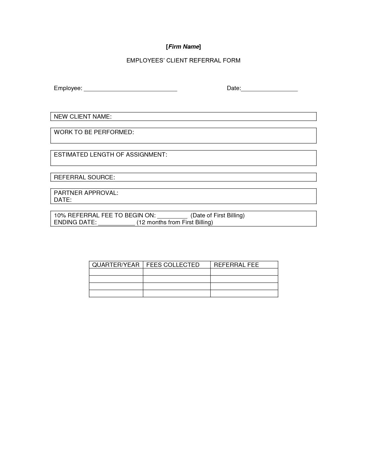 referral sheet sample