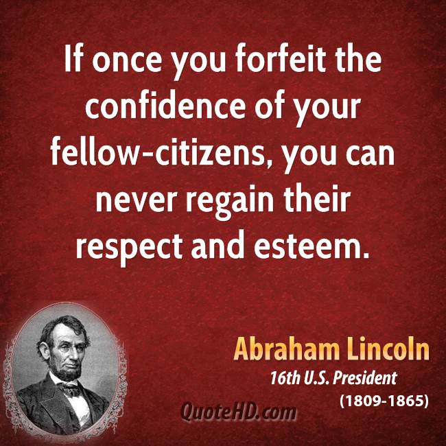 Quotes From The Movie Lincoln: Regaining Trust In Relationships Quotes. QuotesGram