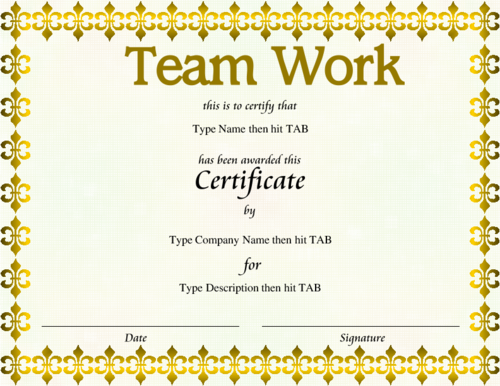 Award certificate quotes quotesgram for Team certificate template