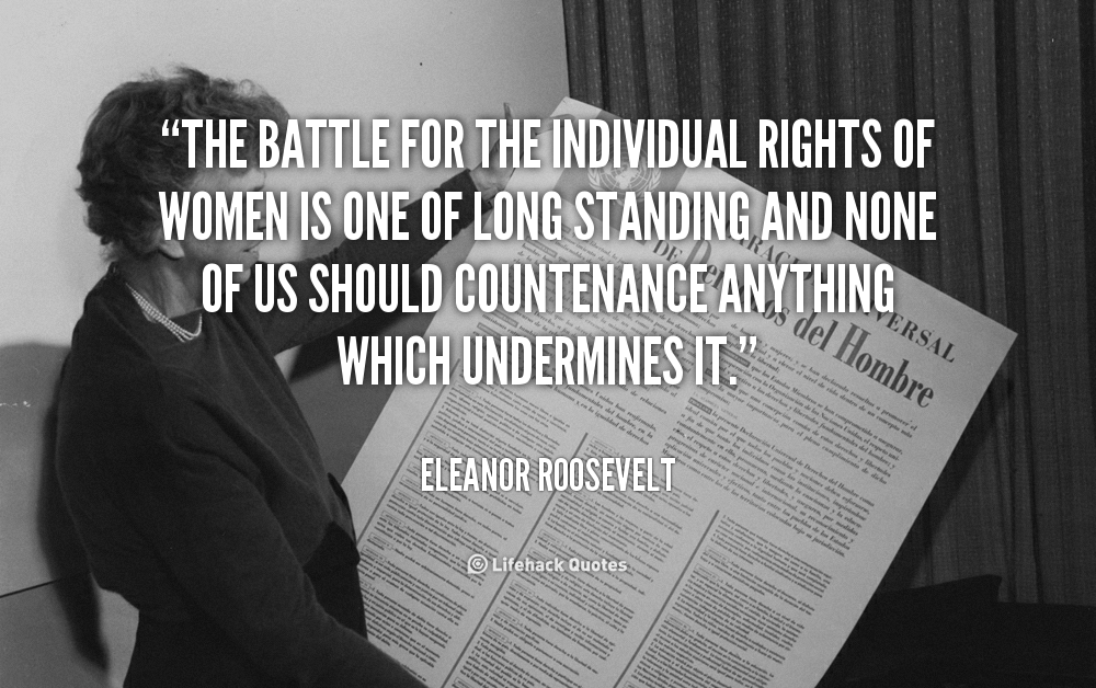 Quotes On Fdrs Death: Eleanor Roosevelt Womens Rights Quotes. QuotesGram