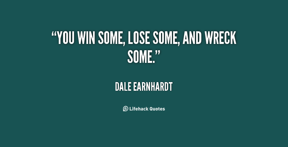 win some lose some essay Some people define good sportsmanship as treating the people that you play with and against as you'd like to be treated yourself whether you win or lose.