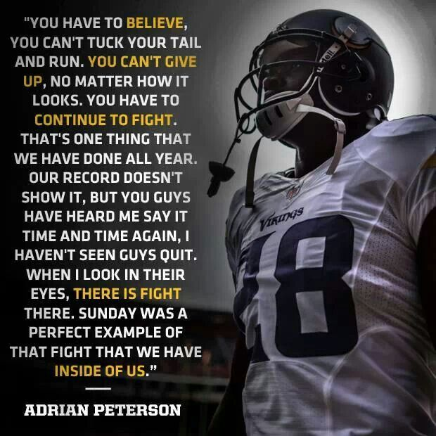 I Survived Cancer Suicide Trials And I Have Learned I: Adrian Peterson Quotes. QuotesGram