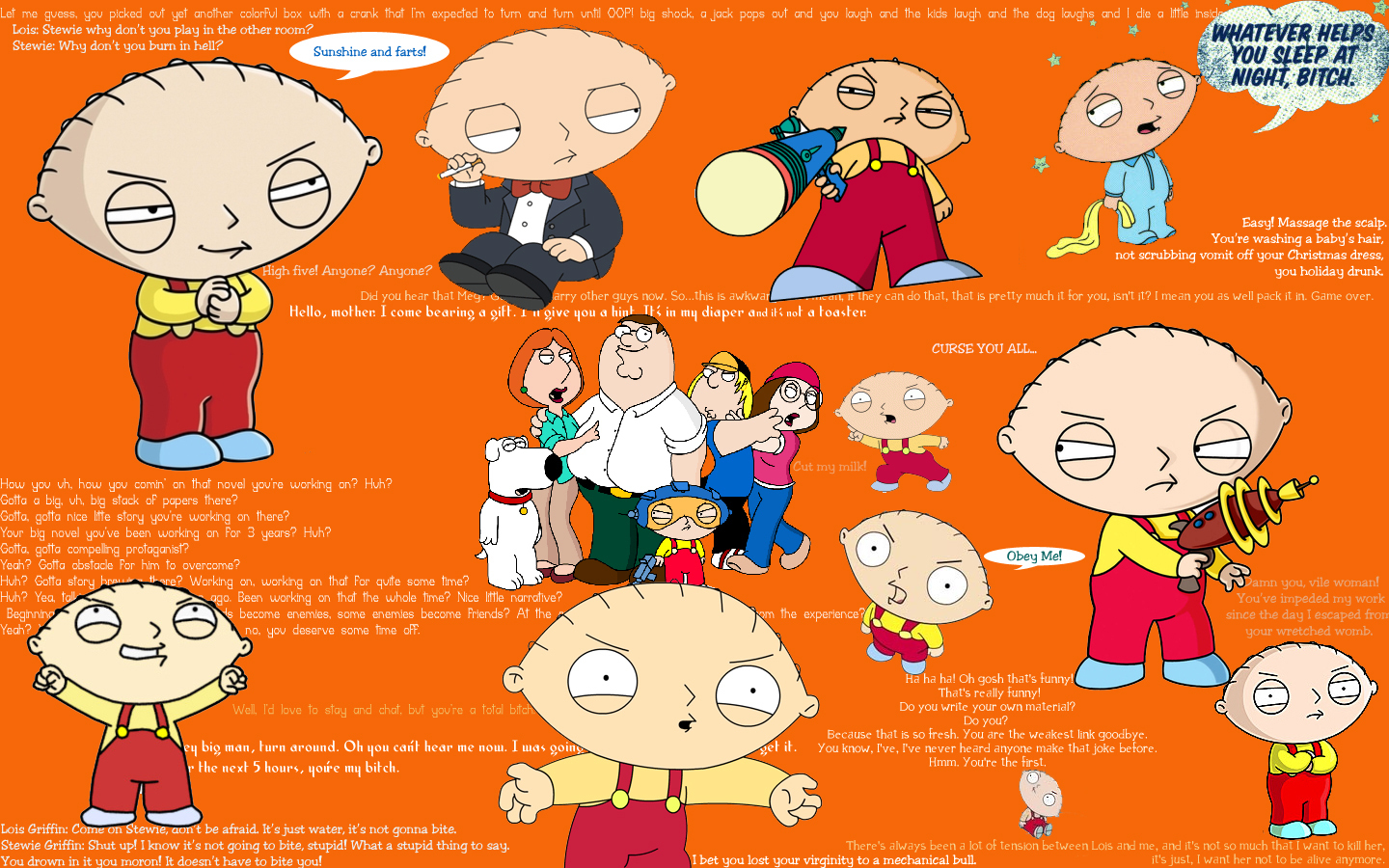 Stewie birthday quotes quotesgram - Family guy stewie background ...