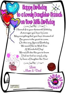 Daughter Quotes Happy 13th Birthday. QuotesGram