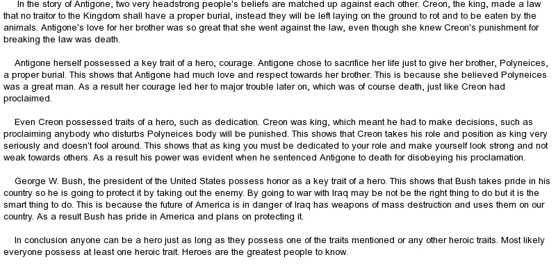 essay on creon