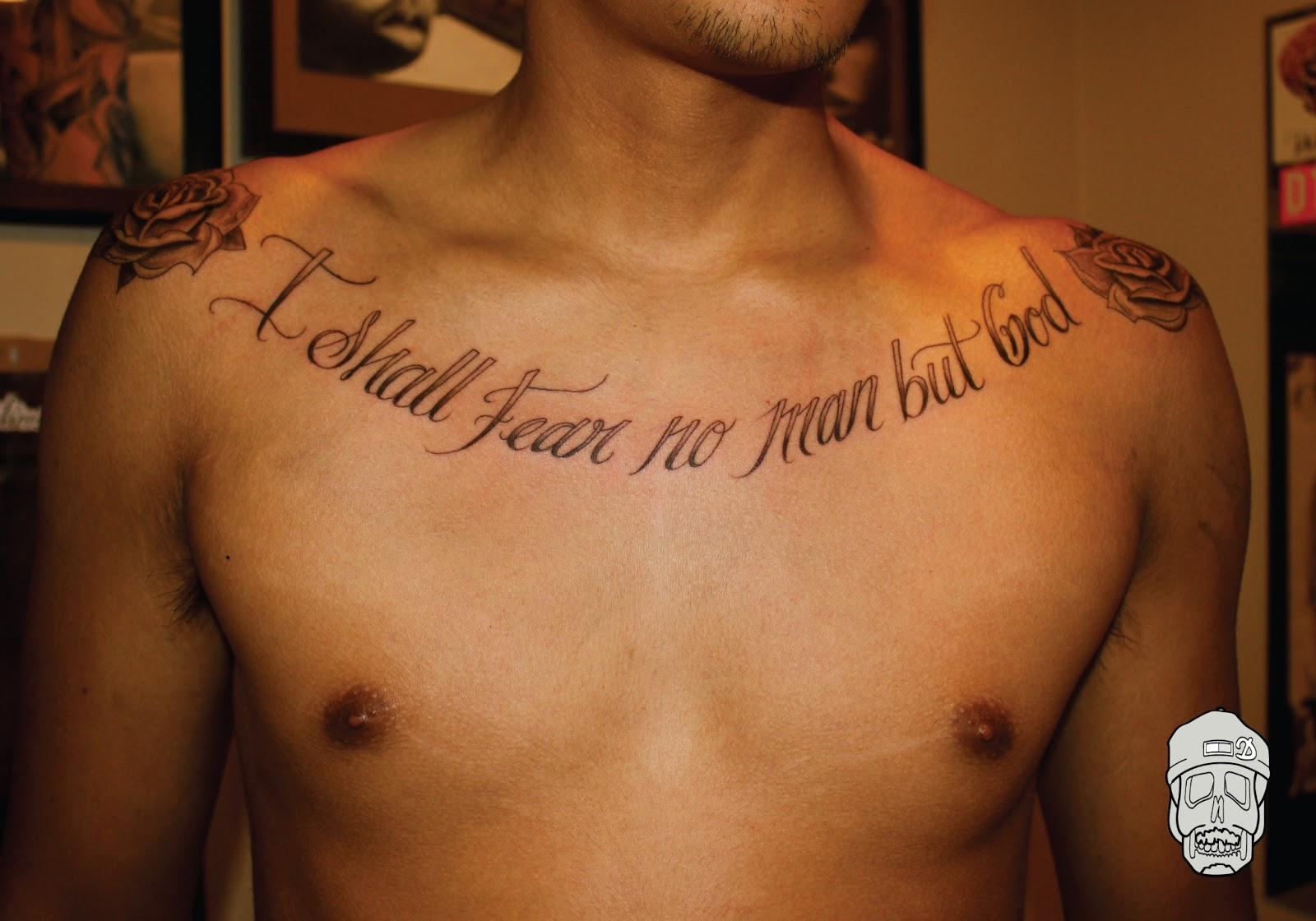 Chest Tattoo Quotes Quotesgram