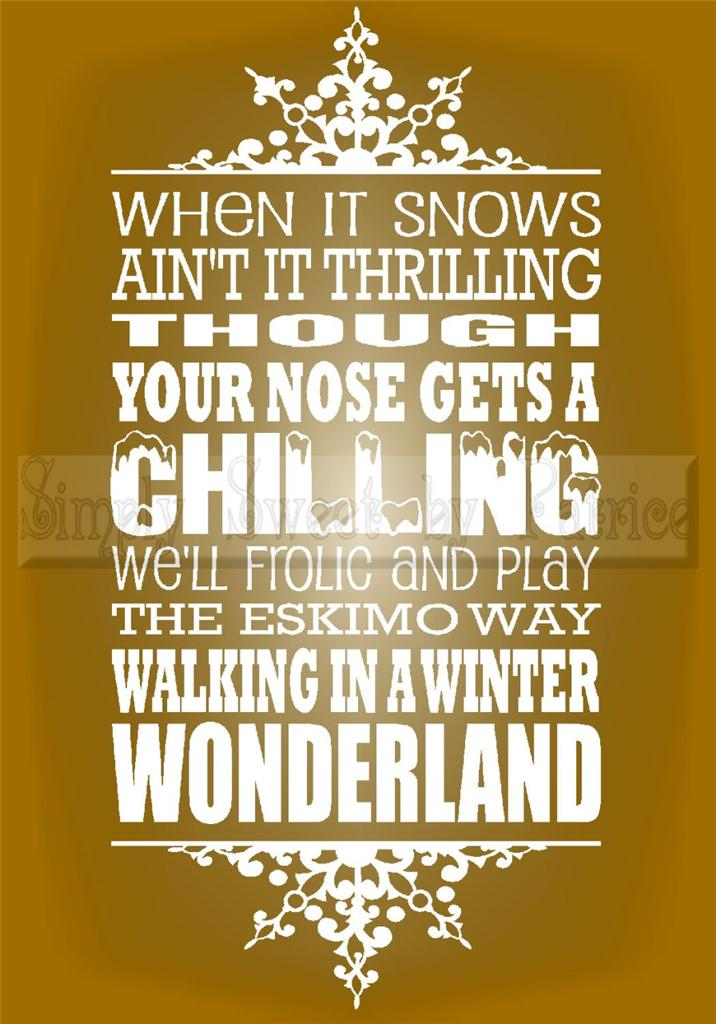 Quotes And Sayings: Winter Wonderland Quotes Sayings. QuotesGram