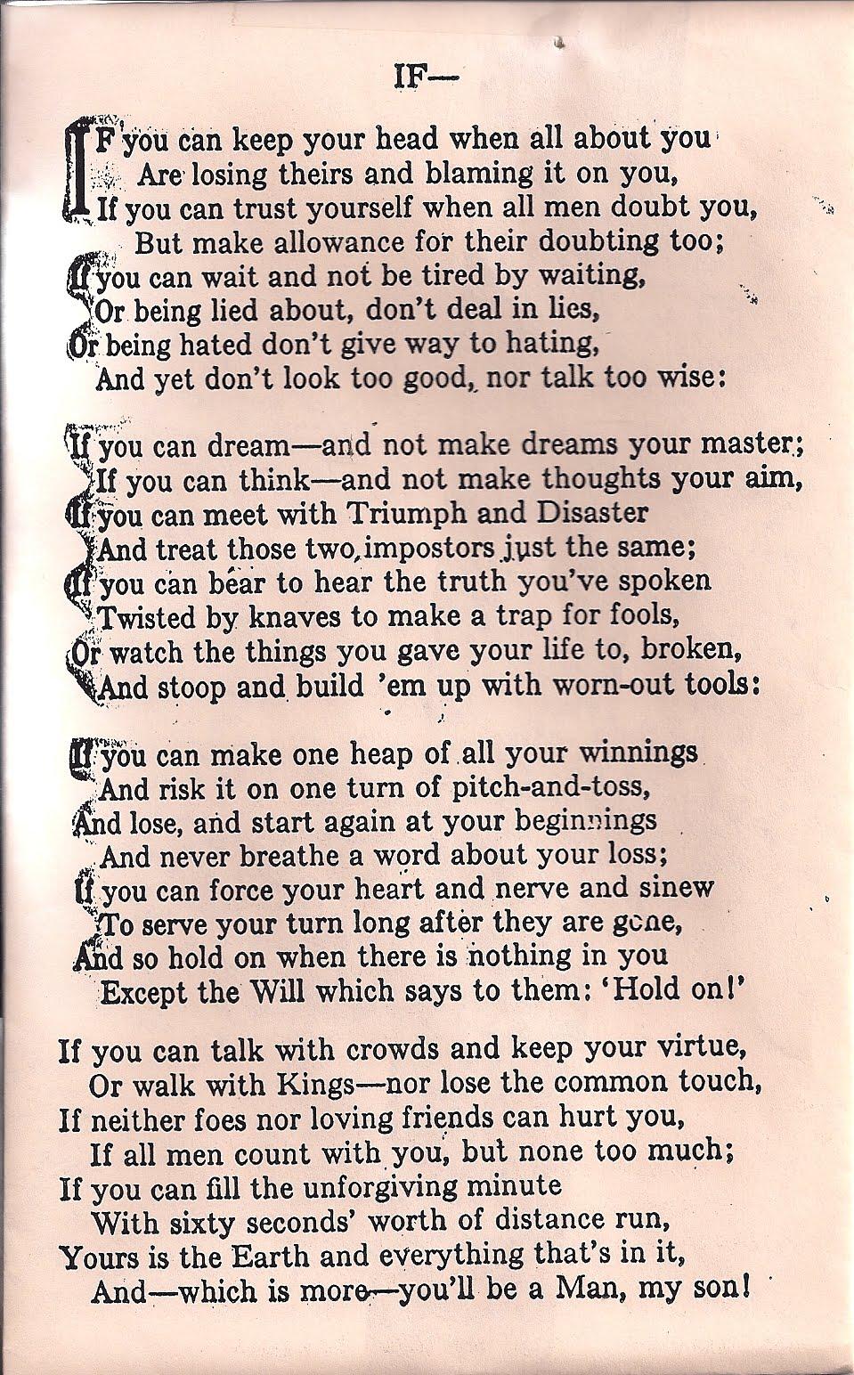 Amoroso Dominante Bombero  Quotes From Rudyard Kipling If. QuotesGram
