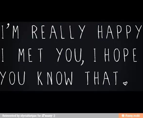 Im Happy We Met Quotes. QuotesGram