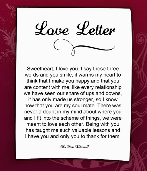 Romantic Thank You Letter