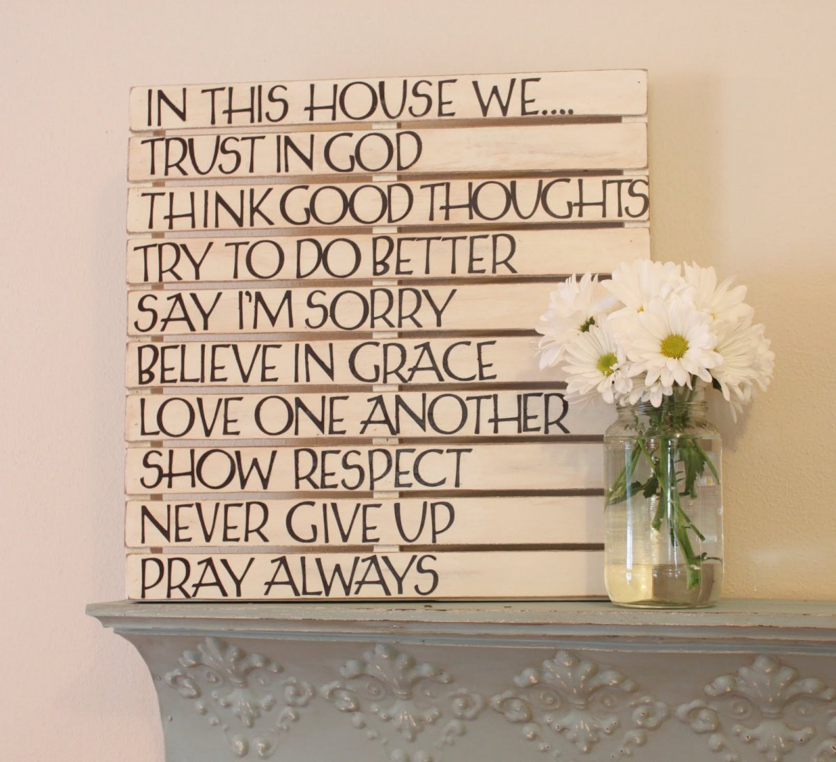 Wooden wall art inspirational quotes quotesgram