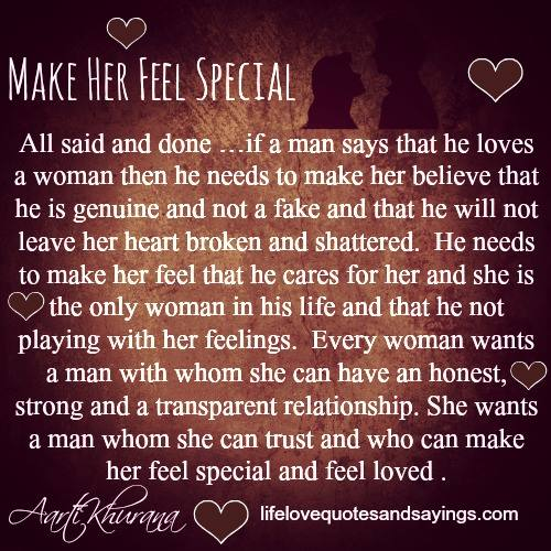 To woman feel make special to say things a 30 Sweet