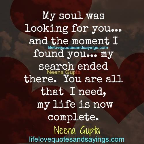 Miss U Quote For Him: I Found The Love Of My Life Quotes. QuotesGram