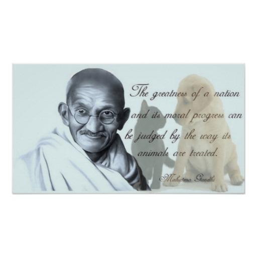 Famous Gandhi Quotes: Animal Quotes By Gandhi. QuotesGram