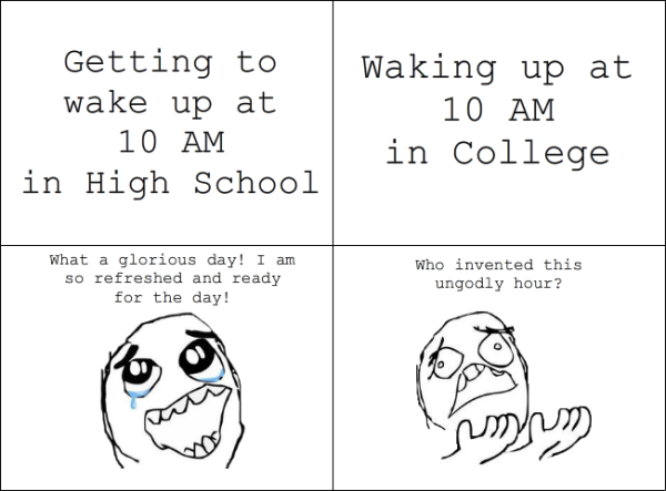 Funny Getting High Quotes: High School Vs College Quotes. QuotesGram