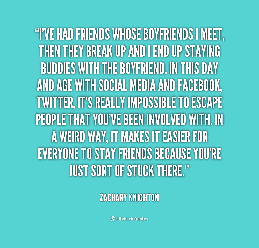 Being Friends With An Ex Quotes: Quotes About Being Friends With Your Ex. QuotesGram