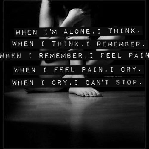 Quotes Feeling Sad And Alone: Dark Lonely Quotes. QuotesGram