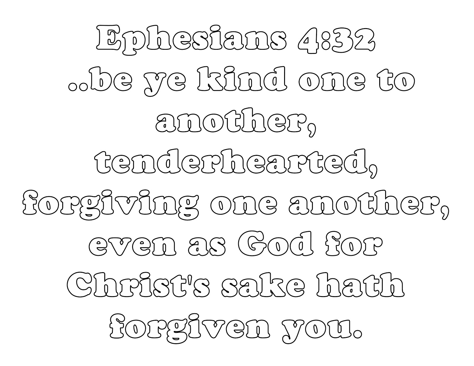 Ephesians Bible Quotes On Forgiveness Quotesgram