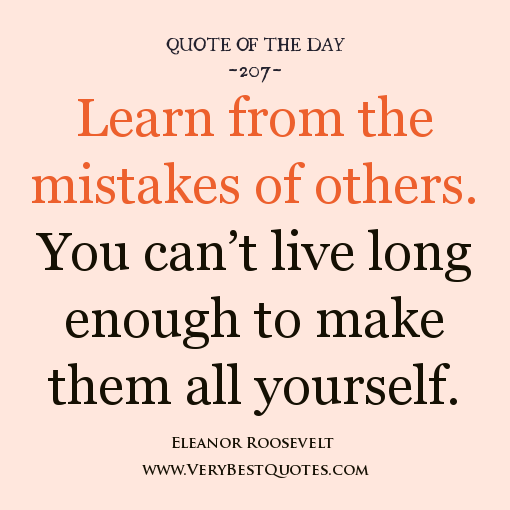 Inspirational Quotes About Failure: Quotes About Learning From Others. QuotesGram