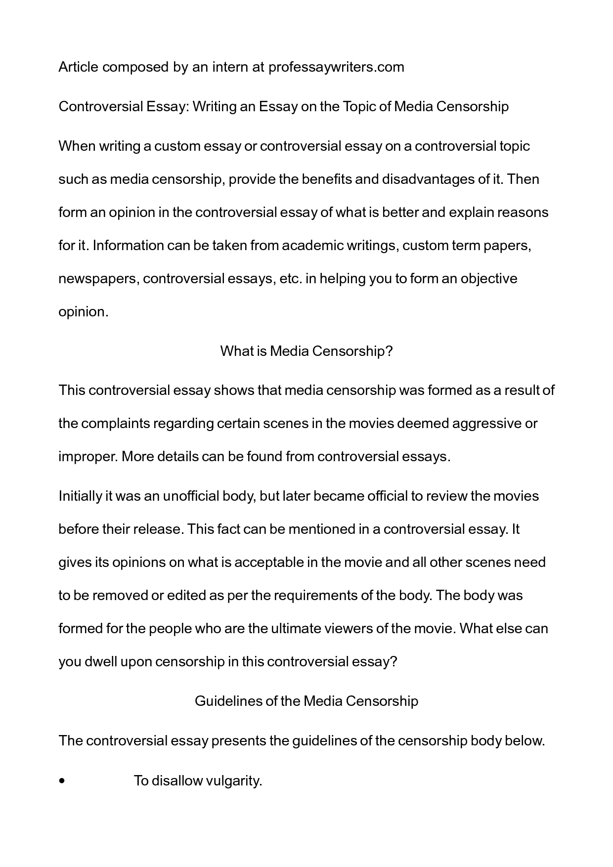 censorship essays template censorship essays