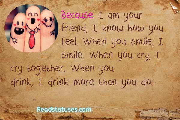 Friend Quotes Status : Status friendship quotes quotesgram