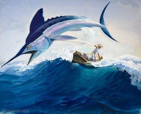 старый кубинский рыбак сантьяго надеется что его мастерство