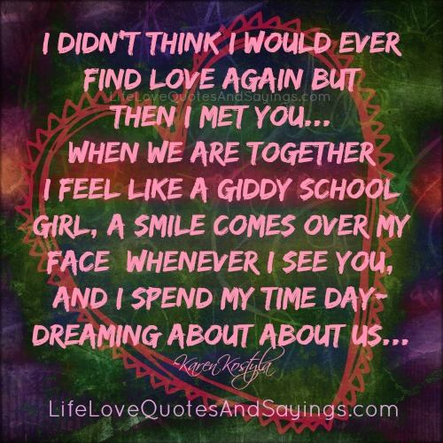 Love Finds You Quote: Finding Love Again Quotes. QuotesGram