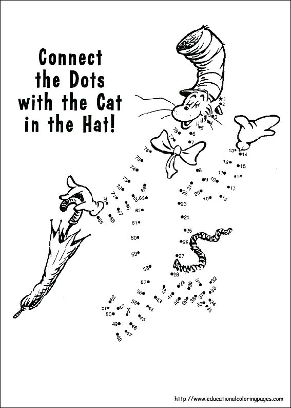 Dr Suess Cat in the Hat Coloring Sheet | Dr seuss coloring pages ... | 794x567