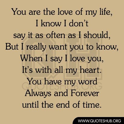 you are the love of my life quotes quotesgram