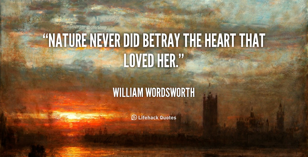 William wordsworth and his love nature