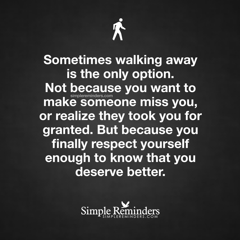 Sometimes Walking Away Quotes. QuotesGram