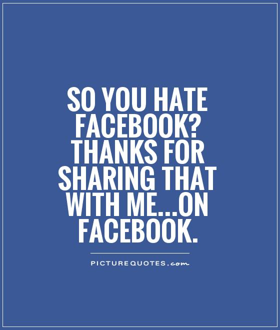 Sarcastic Quotes About Facebook. QuotesGram