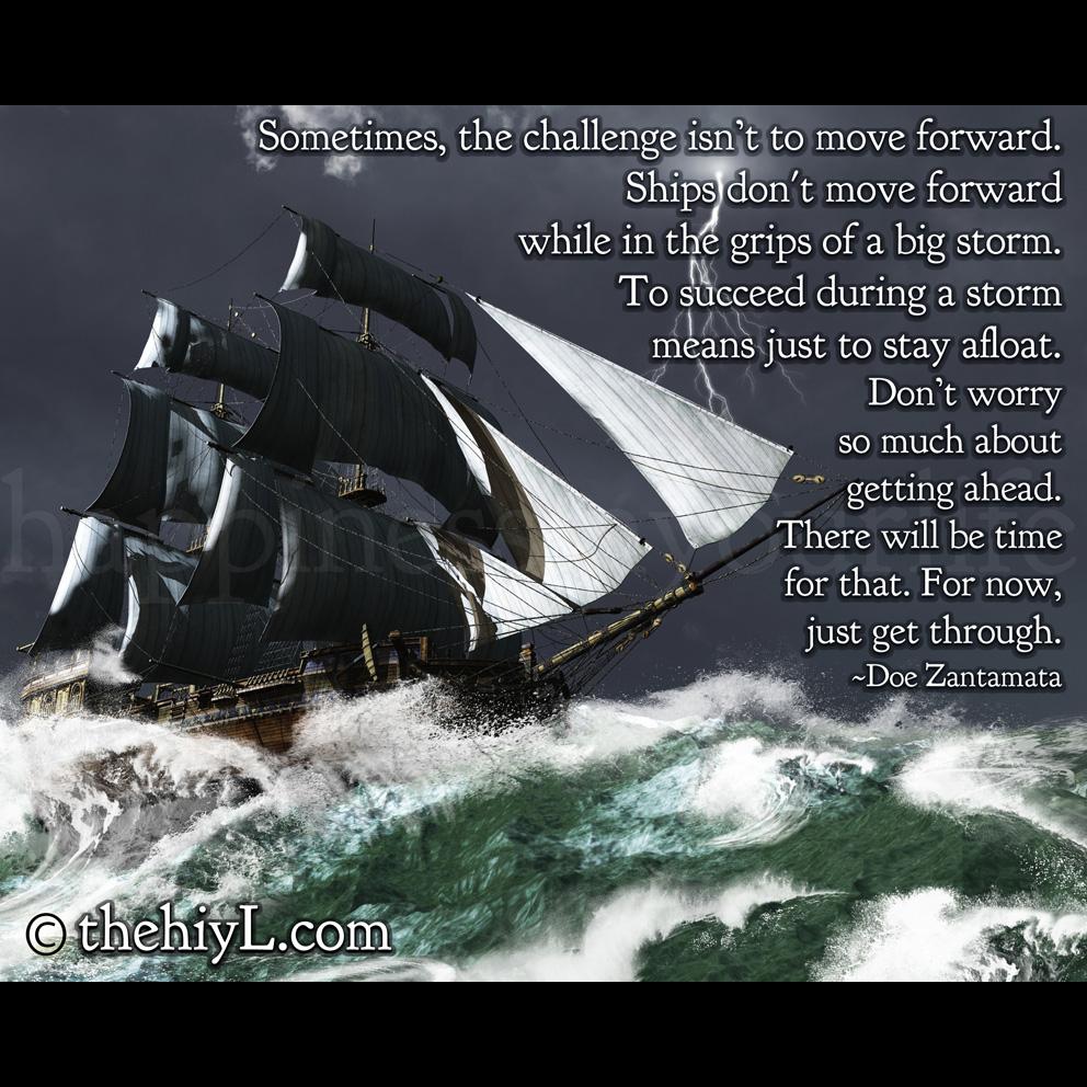 Getting Through The Storm Quotes Quotesgram