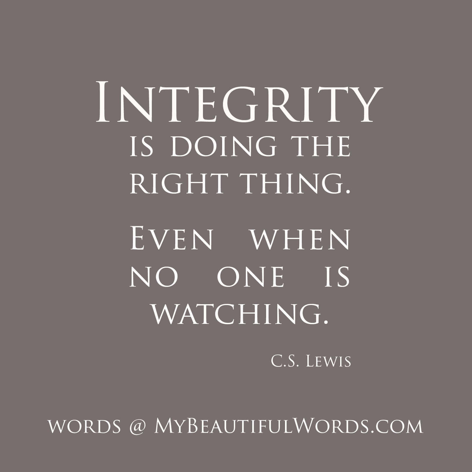 Famous Quotes Integrity Character. QuotesGram