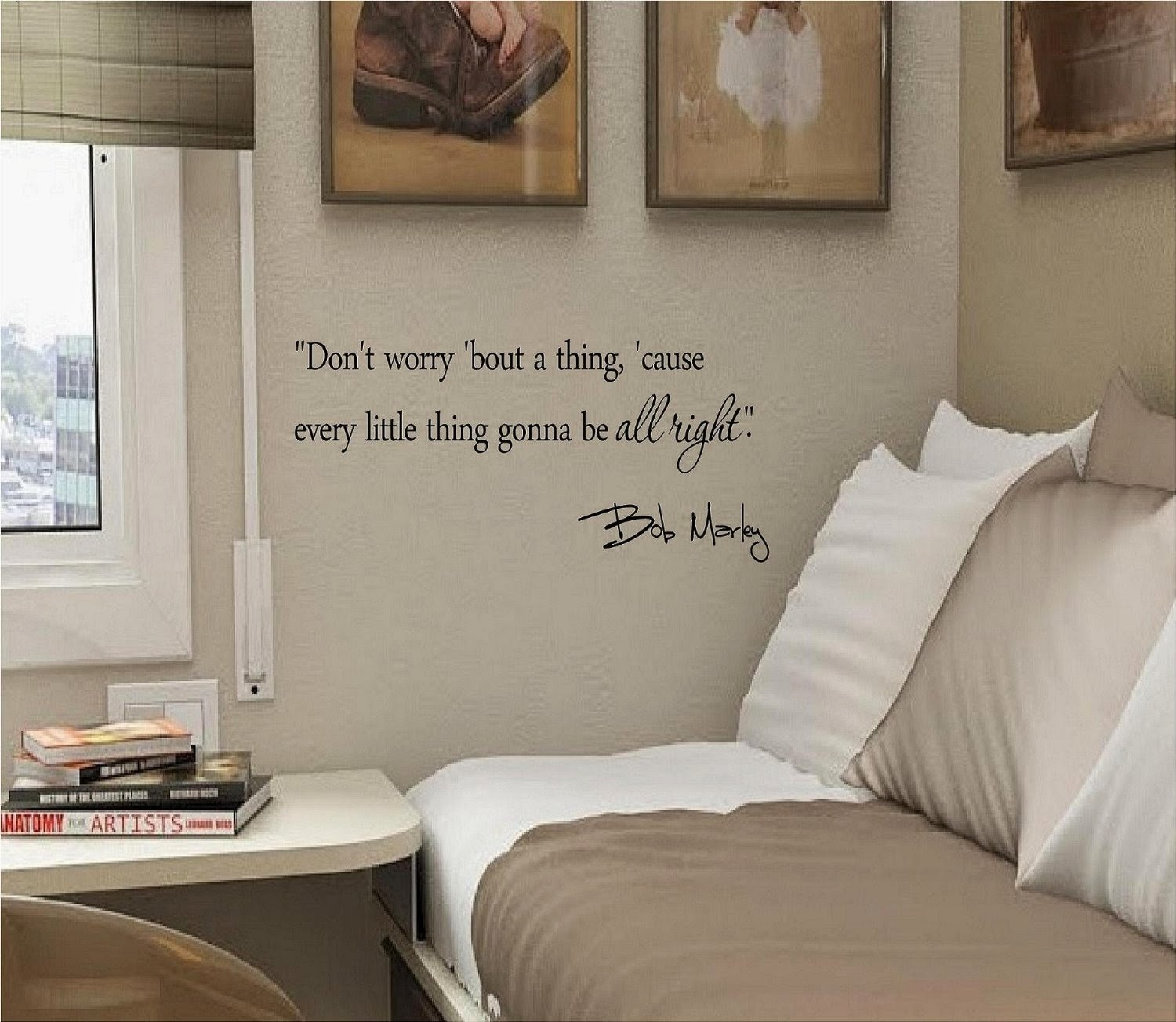 Quotes about home decor quotesgram for Inspiratinal bob marley wall decals