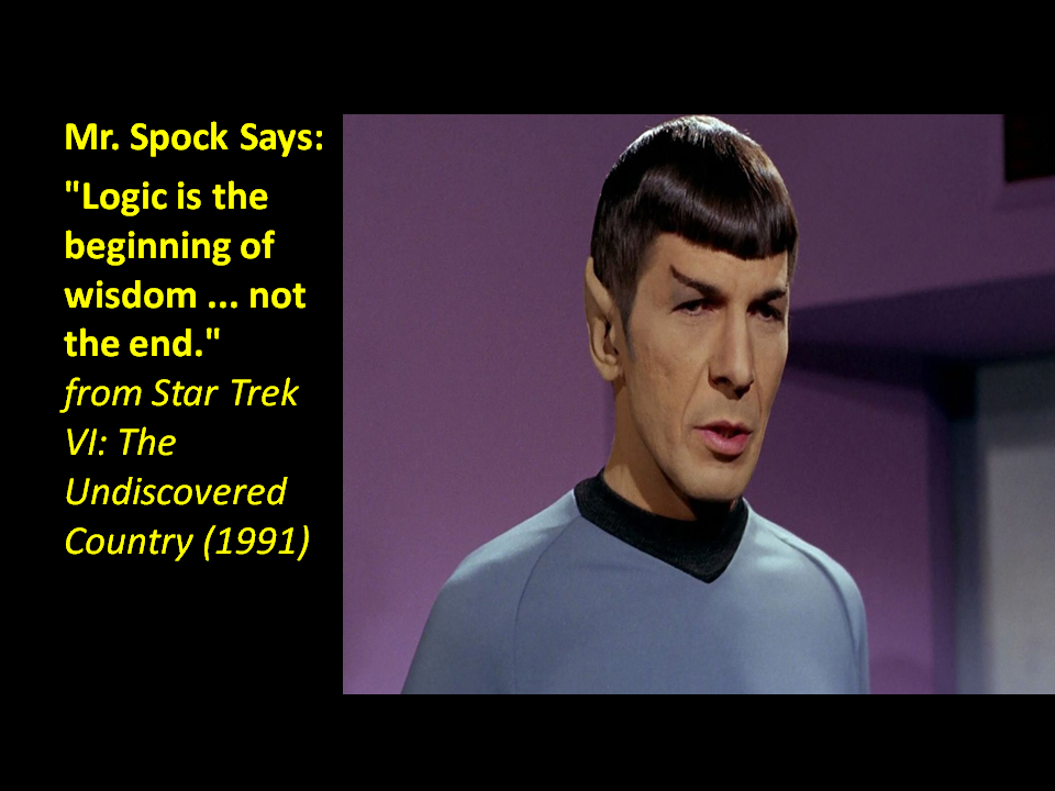 Mr Spock On Logic Quotes. QuotesGram