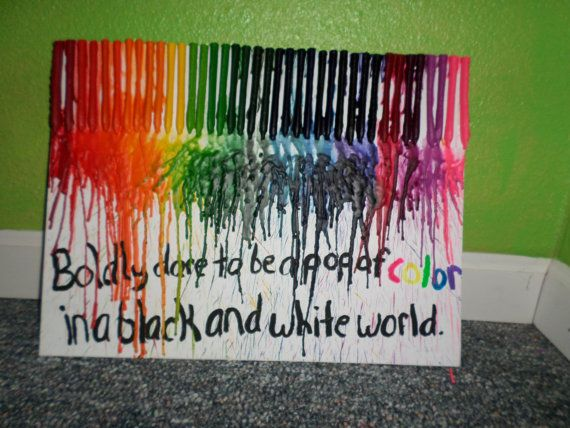 Melted crayon quotes quotesgram for Melted crayon art with quotes