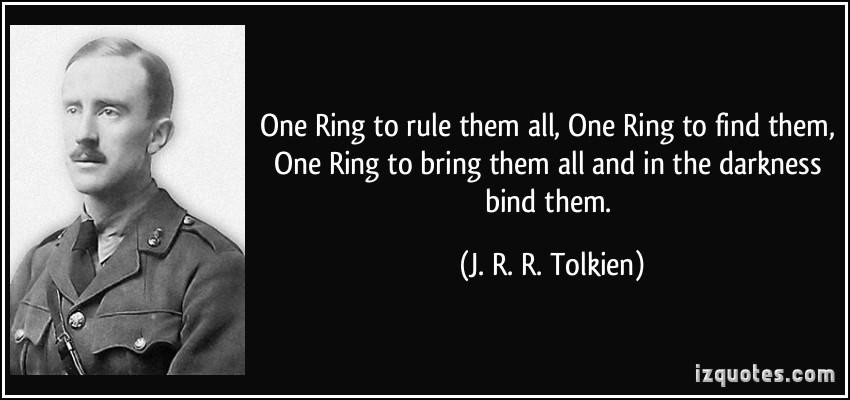 One Ring Tolkien Quotes Quotesgram