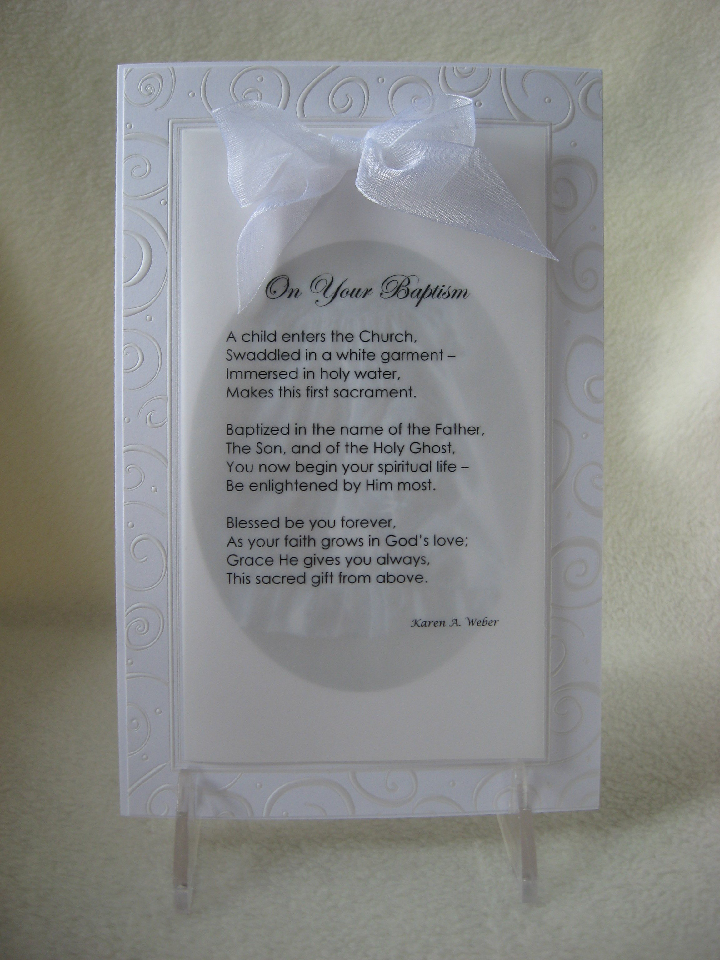 Christening Quotes For Cards Quotesgram