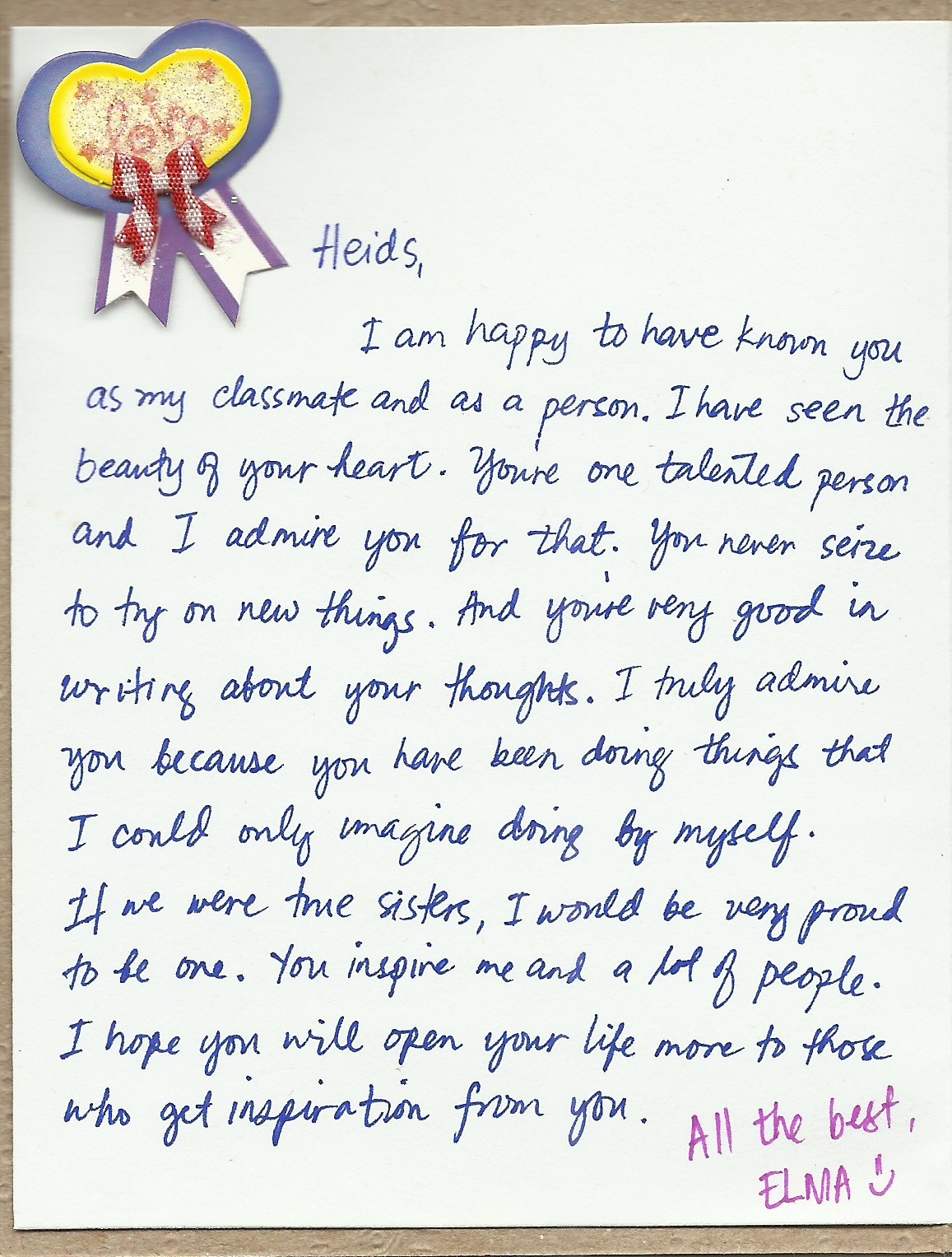A Good Letter To A Best Friend