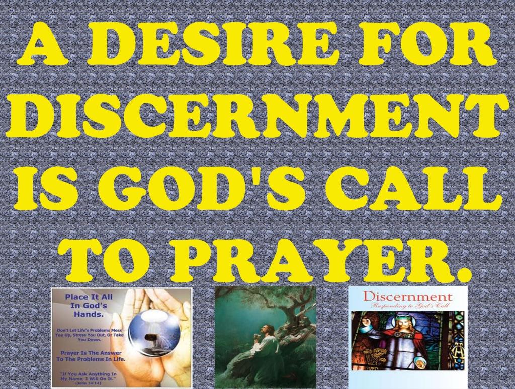 Catholic prayer for discernment of gods will