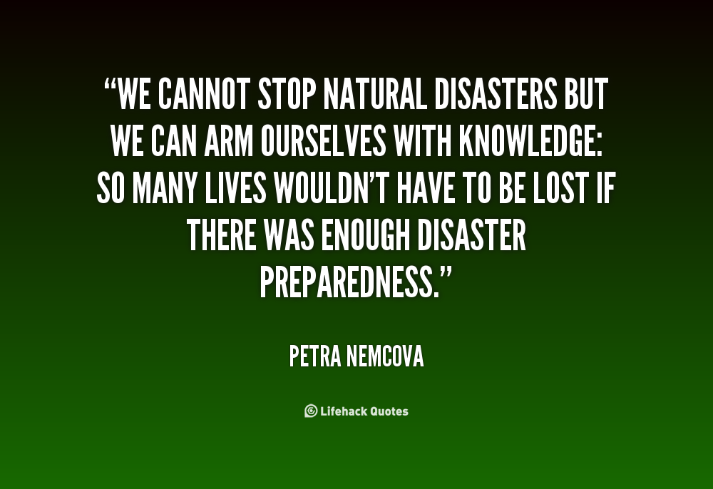 Quotes About Natural Disasters
