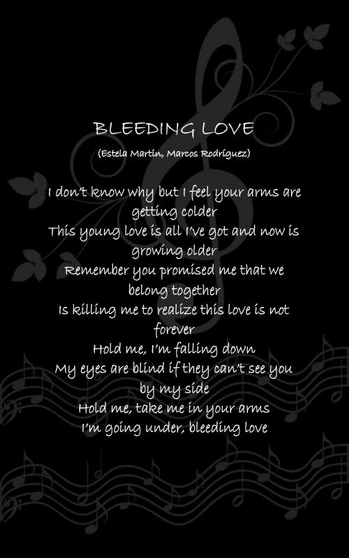 bleeding love quotes quotesgram
